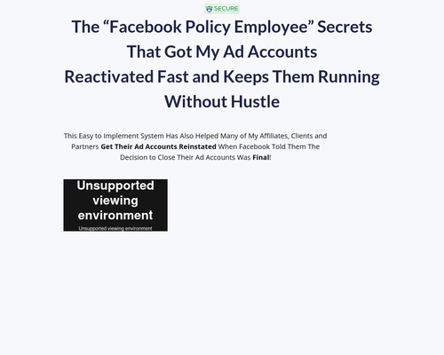 Secure Your Facebook Ad Accounts Training