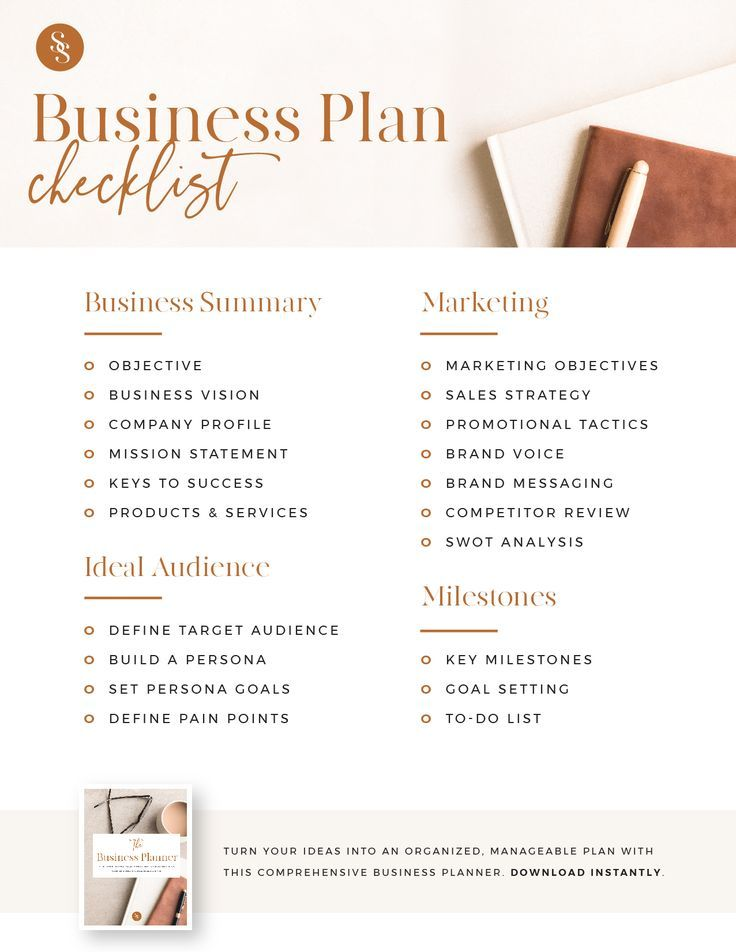 The Business Planner - A printable workbook to grow and expand your business. Instant download. A4,
