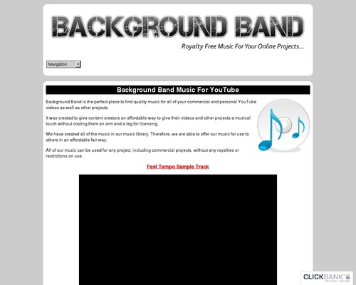 Background Band - Royalty Free Commercial And Personal Use Background Music For YouTube Videos