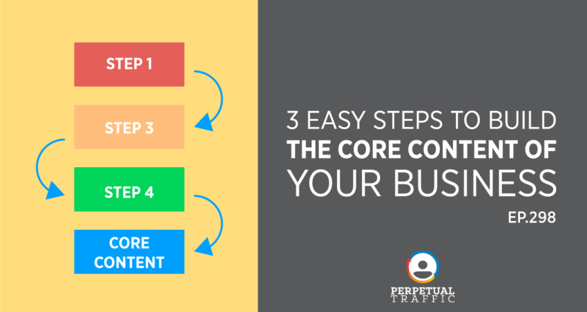 Perpetual Traffic   Episode 298: 3 Easy Steps to Build The Core Content of Your Business